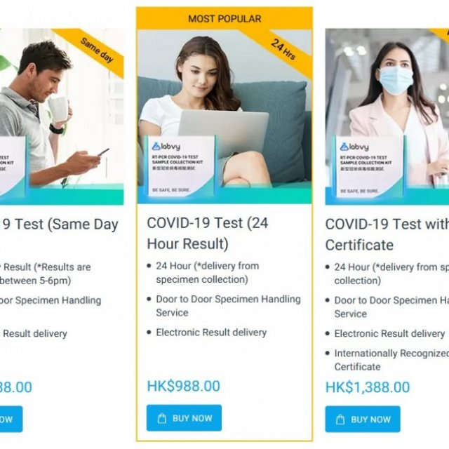 Labvy Trusted Covid-19 Test in Hong Kong